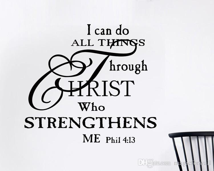 I Can Do Anything Through Christ Who Strengthens Me Wall Quote Decal