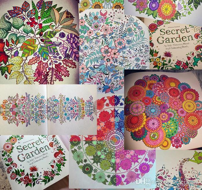 Jardin Secreto Una Caza De Tesoro Tinta Y Libro Para Colorear Pintura Color Creativo