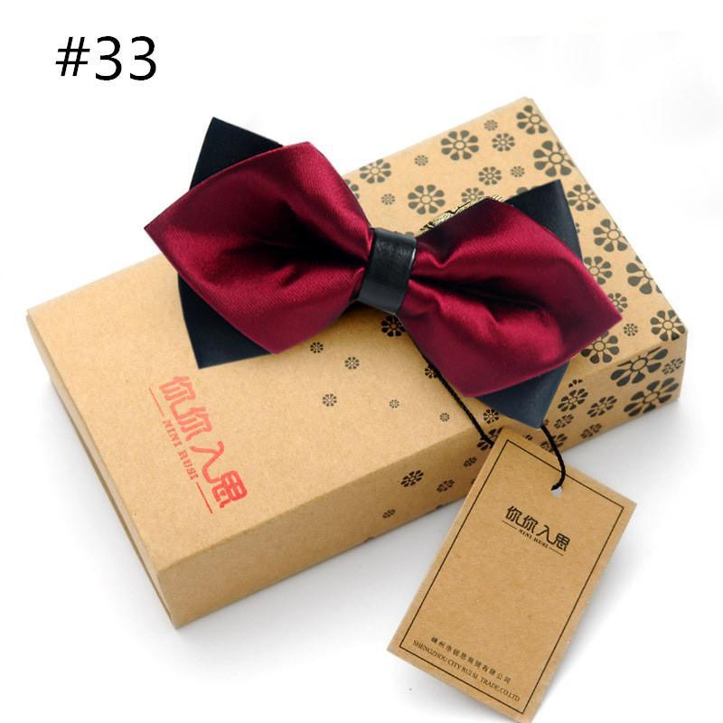 27 estilos 2016 venta caliente delgado arco corbata para hombre mariposa Cravat Bowtie Masculino Color Sólido Matrimonio Bow Lazos para hombres Blusa Feminina