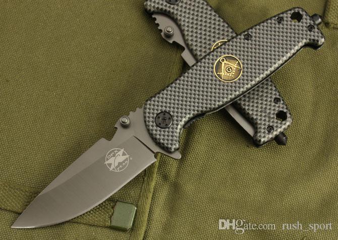 DPX DA15 faca engrenagem 5Cr13 G10 alça facas Ferramentas Camping Caça da faca da sobrevivência ao ar livre facas xmas faca presente 1pc ADRU