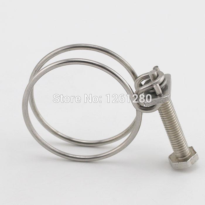 10 St/ück 25-29 mm verstellbar Sepikey Doppeldraht-Schlauchschelle f/ür Wasserschl/äuche