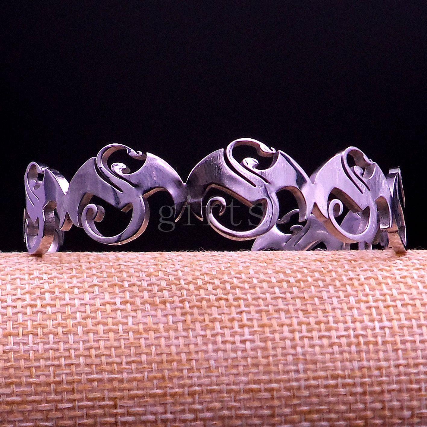 Grandi ciondoli musicali strani Bracciale in acciaio inossidabile Gioielli di moda buon regalo