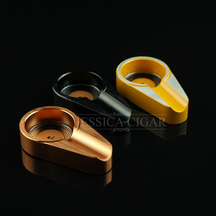 MINI Gadgets Portable Ashtray Titanium Alloy Mini Titanium Alloy Travel Tobacco Cigar Ashtray Holder 1 Rest