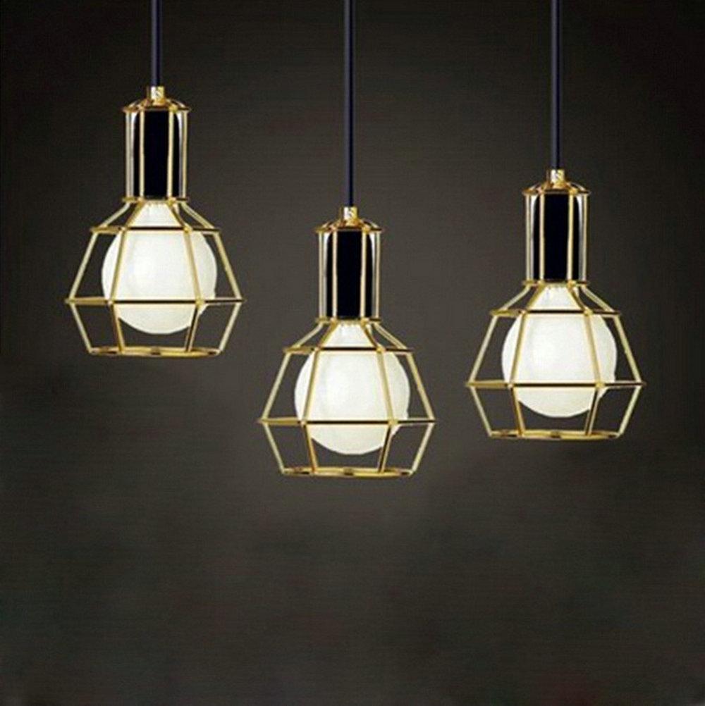 American Vintage Edison Pendant Lamps Chrome Bulb Holder Dining Room Mahjong Creative Lighting Small Lift Cages Bulb Holders