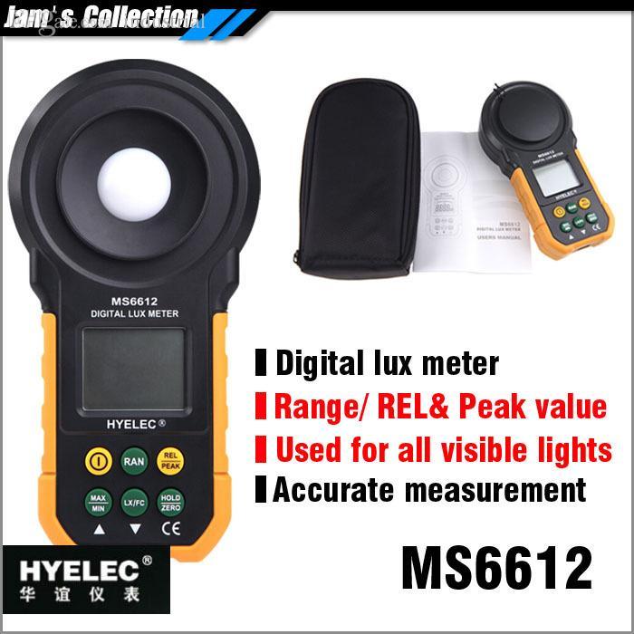 범위 값, 상대 가시광 광도계 도매 MASTECH HYELEC MS6612 디지털 럭스 미터 20,000 럭스