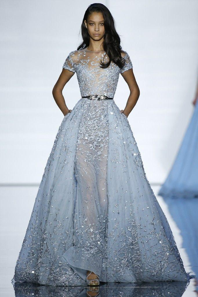 Elie Saab Blue Wedding