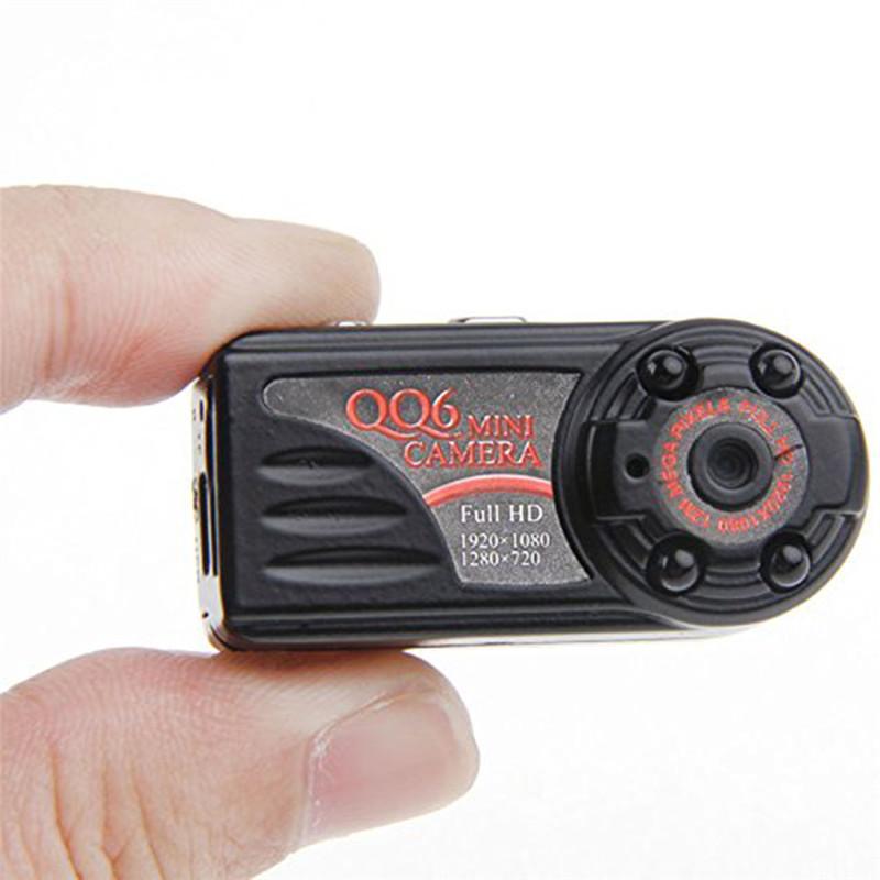 Nuovo arrivo Più piccolo Full HD 1080P 720P Mini DV DVR Videocamera portatile IR Night Vision Motion Detect DVR QQ6 MINI DV