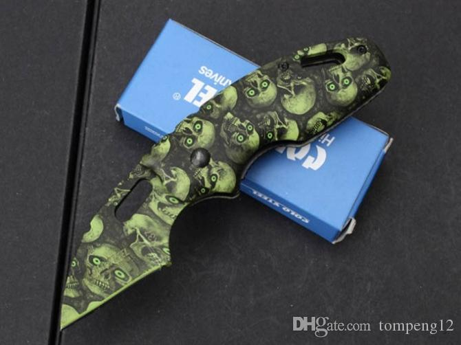 Hot sale Cold steel X37 camouflage Folding blade Knifes Gift Knife Pocket Knife Hunting Knife D2 free shipping 1 pcs