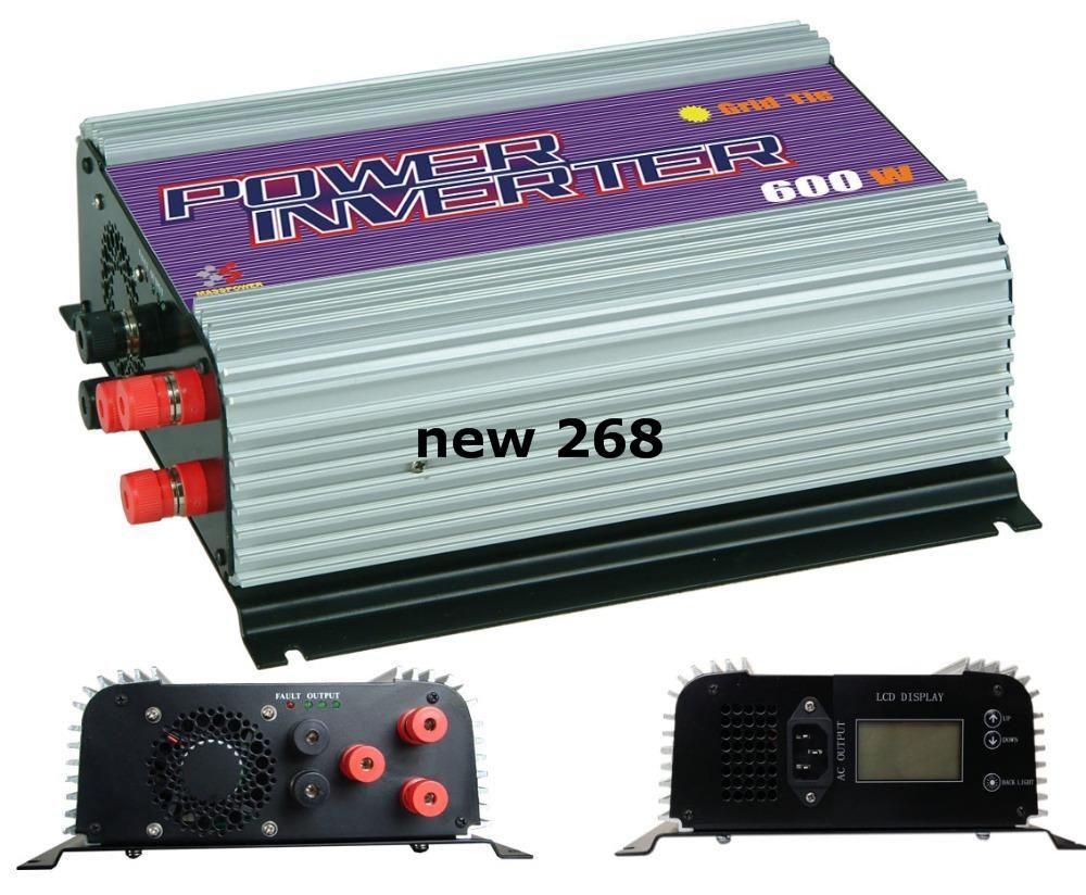 무료 배송, 600W 풍력 인버터, 그리드 타이 인버터, 전원 인버터 (SUN-600G-WAL-LCD) LCD 디스플레이 포함, MPPT 기능
