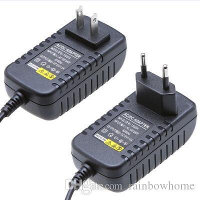 AC DC 12 V 2A 1A Ładowarka Ścienna Zasilacz Transformator adaptera do modemu Router LED Strip Lights Camera IP 8 Wtyczki złącze