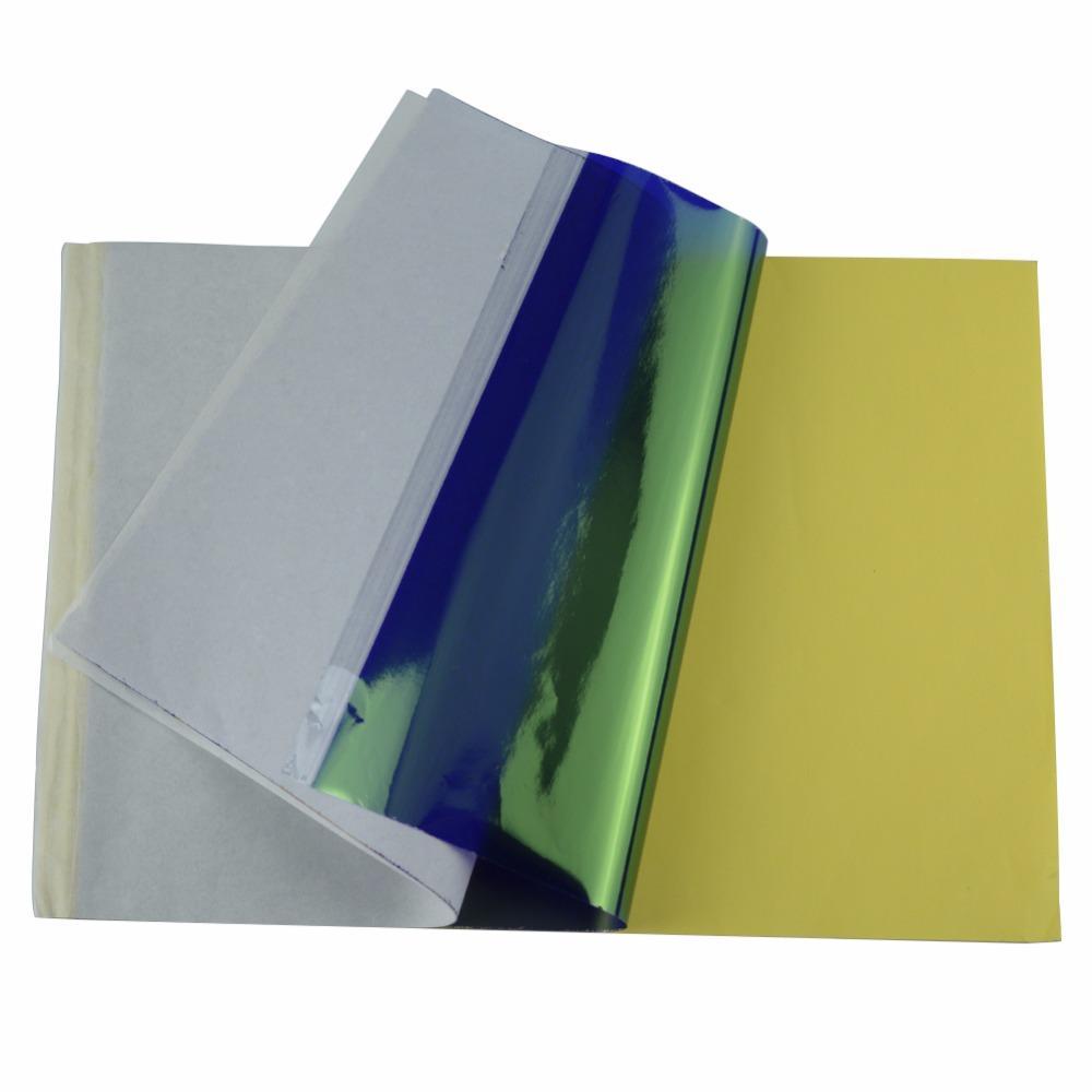 حار 5 قطعة / المجموعة الاكسسوارات الوشم استنسل نقل ورقة a4 استنسل الكربون الوشم الإمدادات نسخ هيئة الفنون