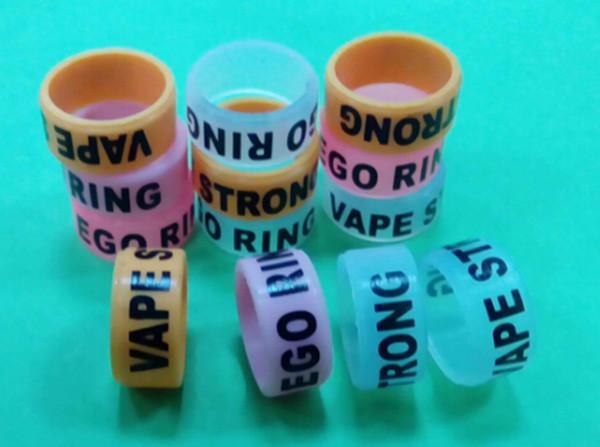 2018 12mm Anillo de silicona antideslizante con banda de goma Vape para mods mecánicos RDA EGO AGO Protección de batería Vape Mod Bandas de goma de resistencia de resistencia