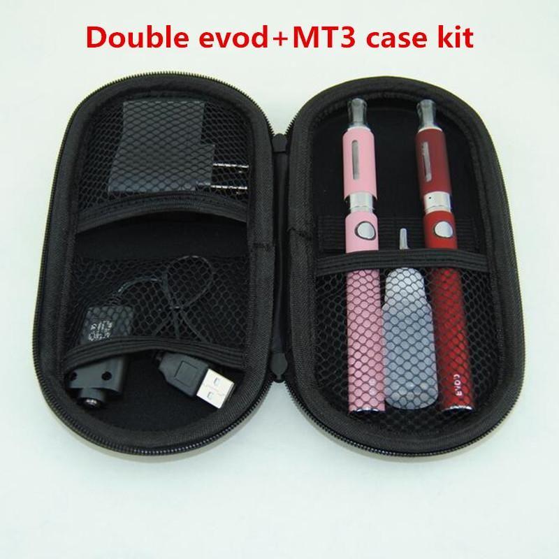 Double EVOD MT3 vape pens Starter kit with ecigarette MT3 Vaporizer Atomizer evod battery vs ugo eGo T evod twist vision spinner kits