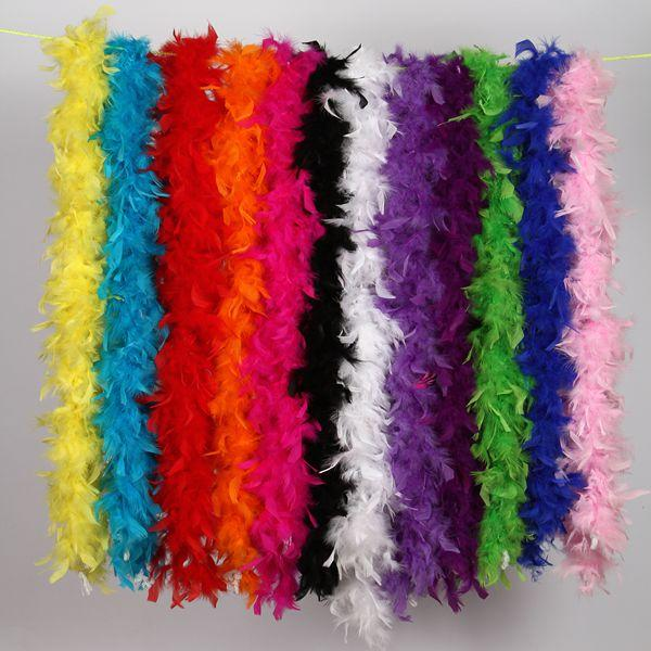 aihihe Feathers Boa Feathers Colorful Party Feather Boas for Adults for Women Girls Dress Up Theme Party Bulk Scarves