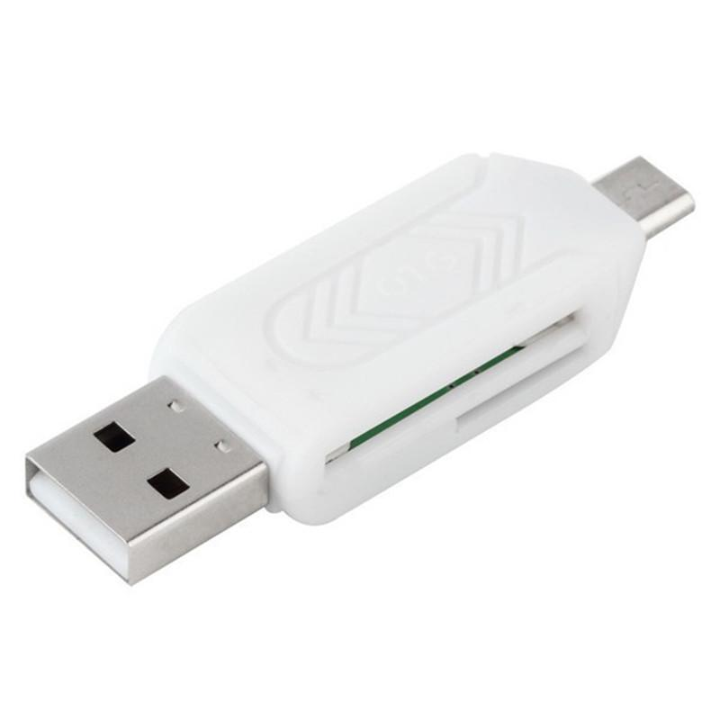 USB Universal Card Reader Color : White Support SD//MMC//SIM//TF Card