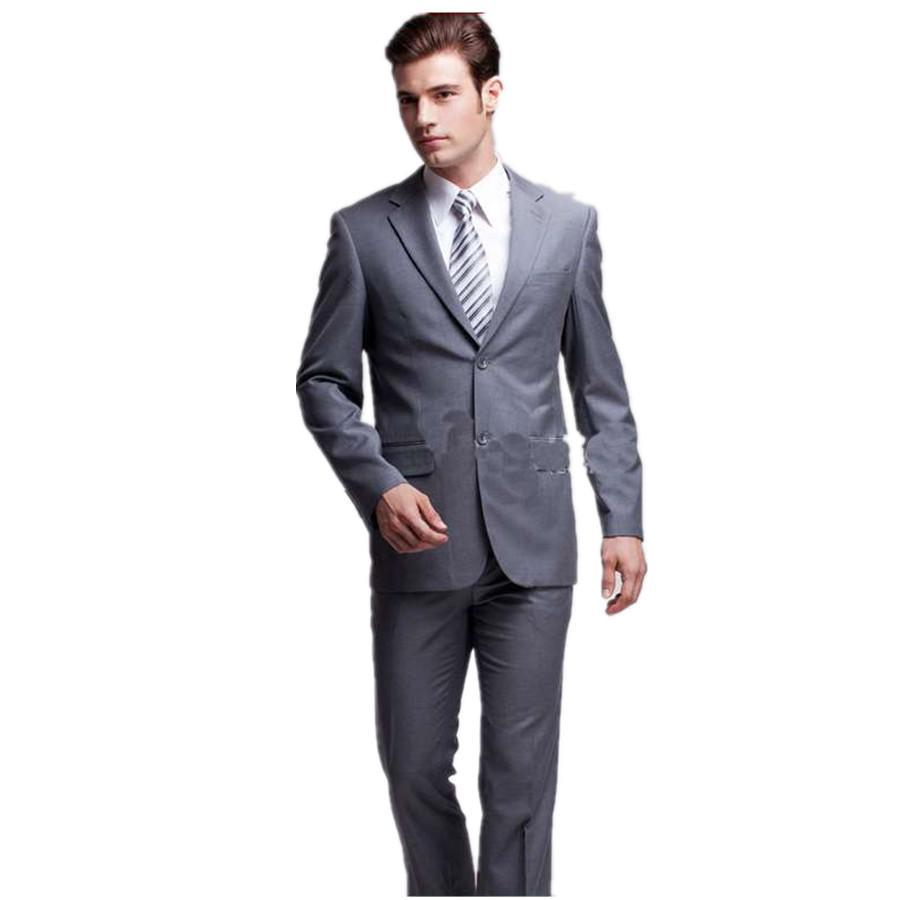 Customized 2015 Hot Sales Notch Lapel Two Buttons Gray Formal ...