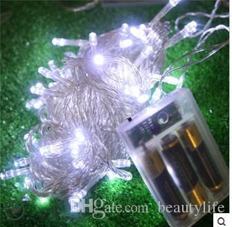 Düğün malzemeleri açık bahçe dekoratif su geçirmez LED dize işıklar flaş 10 M 80 LED süper parlak pil ışığı