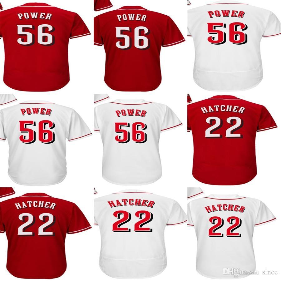 Personalizza Personalizza Mens Womens Bambini Toddlers Cincinnati 56 Ted Potenza 22 Billy Hatcher rosso Bianco Bianco Flex Base Cool Base Baseball Maglie