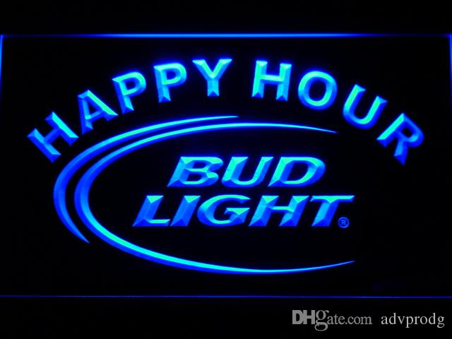 601 Bud Light Lite Beer Bar Happy Hour LED Neon Light Sign Wholesale Dropshipping Free Ship
