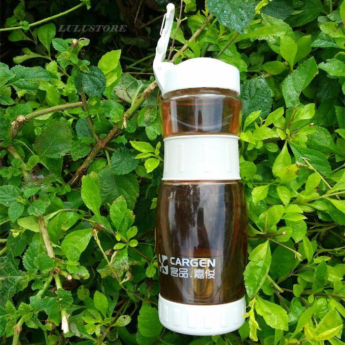 1 unid Portátil a prueba de fugas botellas de agua de plástico botellas de deportes para viajar Drinkware con tapa infusor de té 700 ml venta caliente