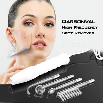 새로운 휴대용 얼굴 마사지 Darsonval 고주파 명소 제거제 얼굴 피부 관리 미용 기기 전문 키트 무료 배송