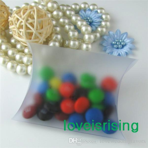 Livraison gratuite-100 pièces 9x7x2.4 cm Anti-Scratch Mat Pillow Favor Box, boîte-cadeau Pour Baby Shower Faveurs De Mariage Boîtes Fournitures