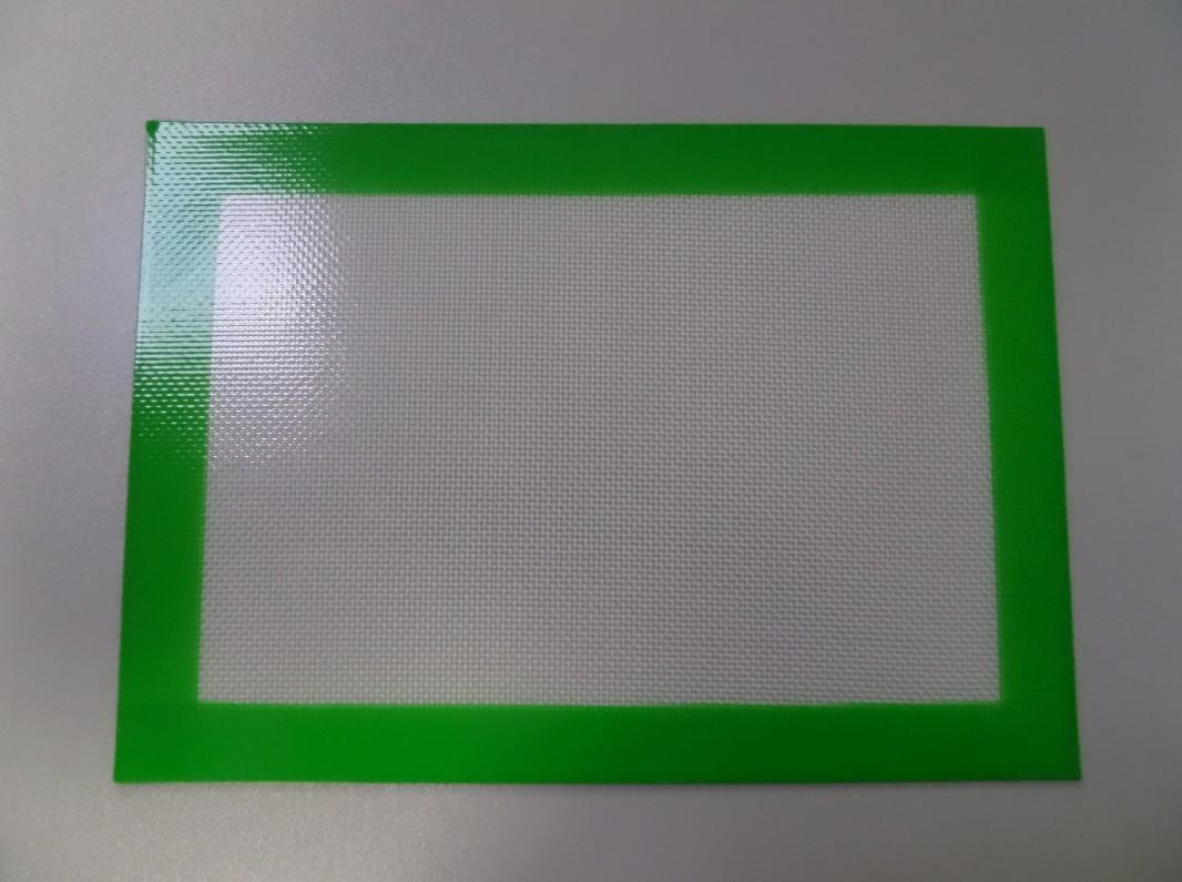 Platinum Cured FDA Zatwierdzona klasa żywności silikonowa i włókna szklanego zbudowany nie-kij 20x30 cm silikonowy slick olejenkowy mata mata