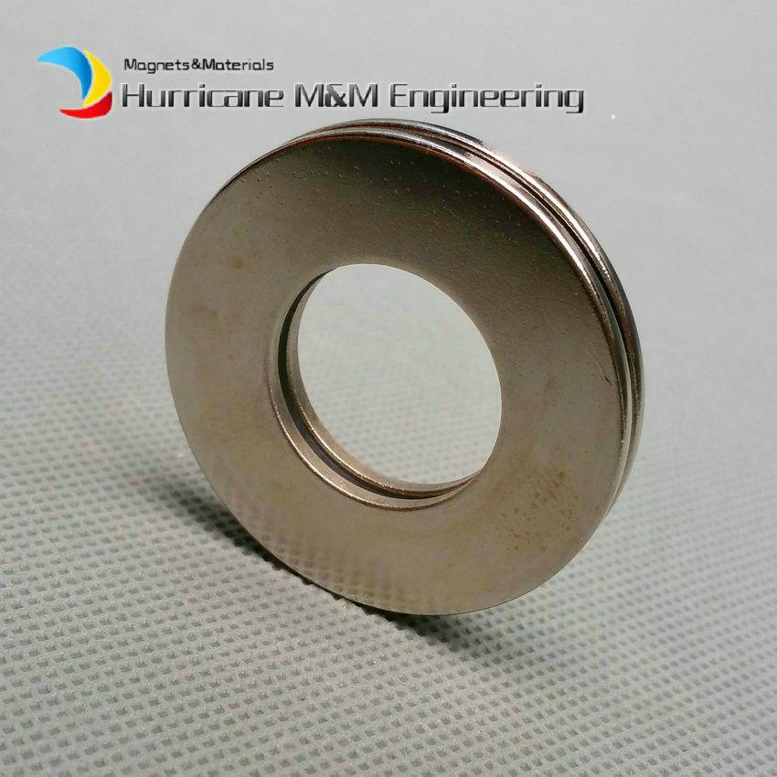 1 Pack NdFeB Aimant Anneau OD 40x20x2 (+/- 0.1) mm Diamètre 1.57 '' Rond Aimants Forts Magnétisés Axialement NiCuNi Enduit Aimants de Terre Rare