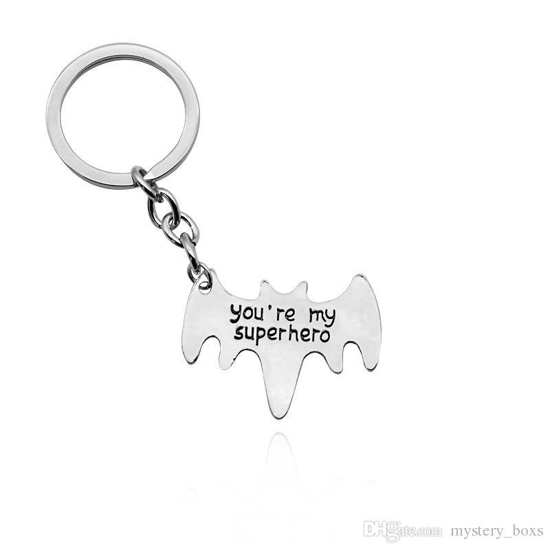 Avengers accessories you are my superhero batman keychain to send husband daddy's boyfriend personality creative gift