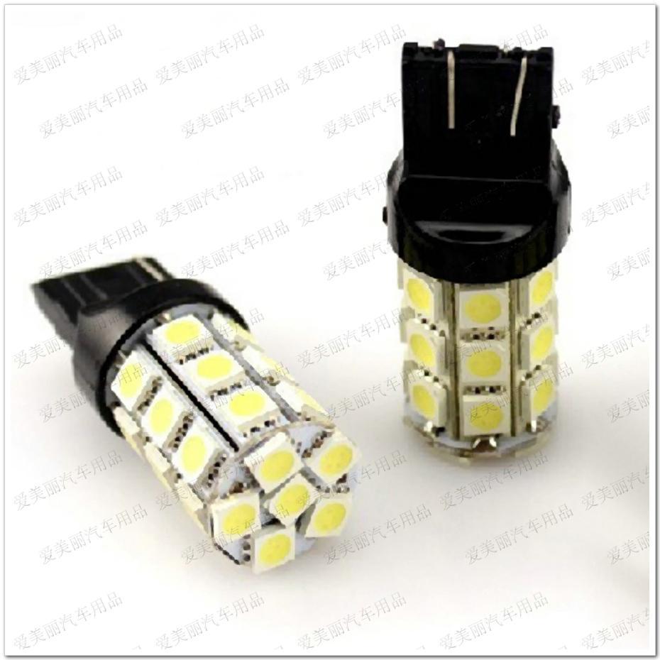 Promotion 10pcs 27LED 7440 7443 3156 3157 27 SMD 5050 27 LED auto tour clignotant frein lumière arrière ampoules lampe de sauvegarde arrière