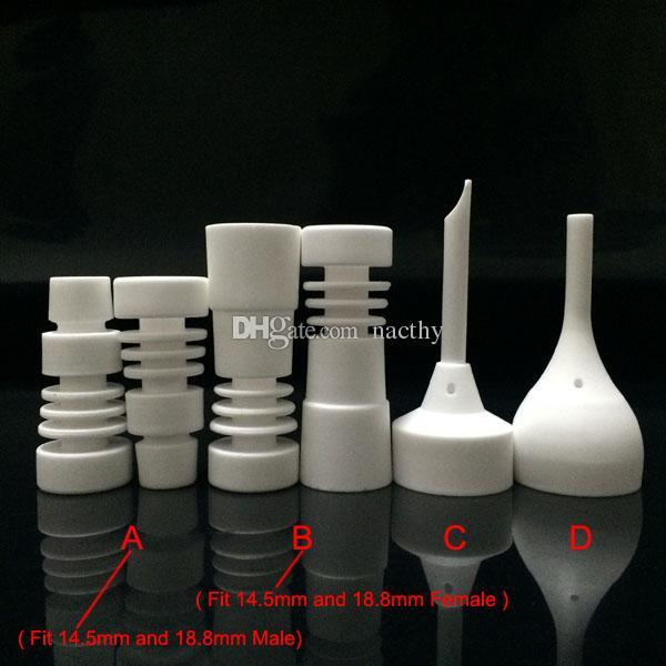 DHL Free 14mm e 18mm Maschio o Femmina Chiodo Domeless in ceramica con tappo Carb VS Chiodi in titanio per vetro Bong Pipa