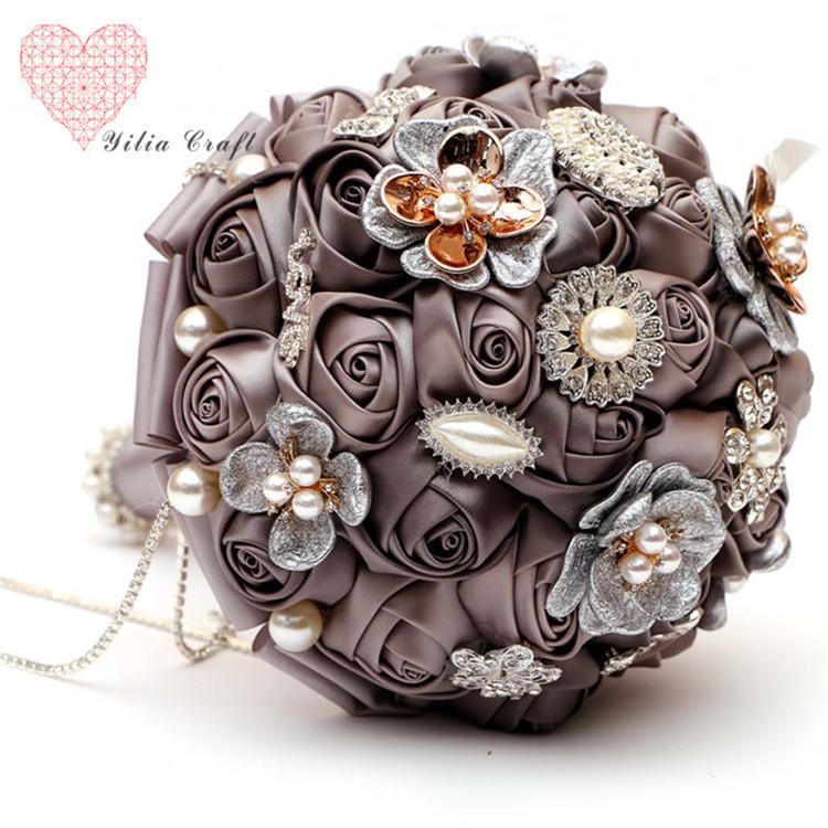 Luxury Romantic Crystal Brooches Bridal Wedding Bouquet Decor Brooch ...