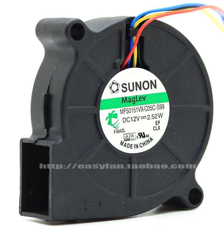 Original SUNON MF50151VX-C05C-S99 12 V 5015 ventilador MF50151VX-C000-G99 MF50151VX-B00C-A99 MF50151VX-B00C-G99 ventilador de refrigeração