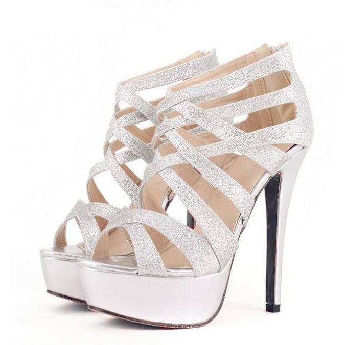 silver strappy shoes uk best e1984 65e90