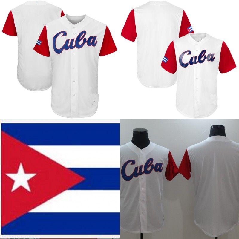 2017 Cuba World Baseball Classic Webc Jersey Autêntico Personalizado Qualquer Nome Número Número Mulher Mens Juventude Jerseys de Beisebol Branco