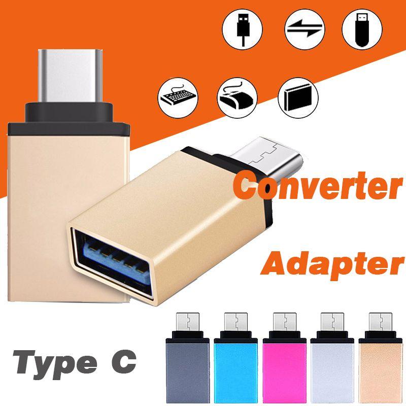 Metal usb 3.1 tipo c adaptador otg macho para usb 3.0 um adaptador conversor otg função feminina para iphone samsung macbook google chromebook