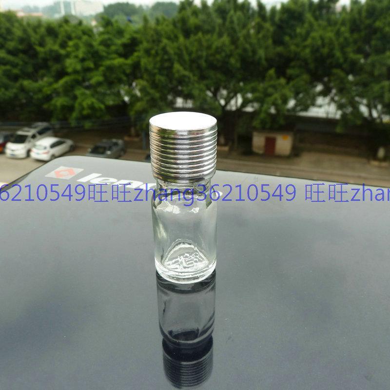 5m 투명 / 투명 유리 에센셜 오일 병 반짝이 은색 알루미늄 캡. 오일 바이알, 에센셜 오일 용기