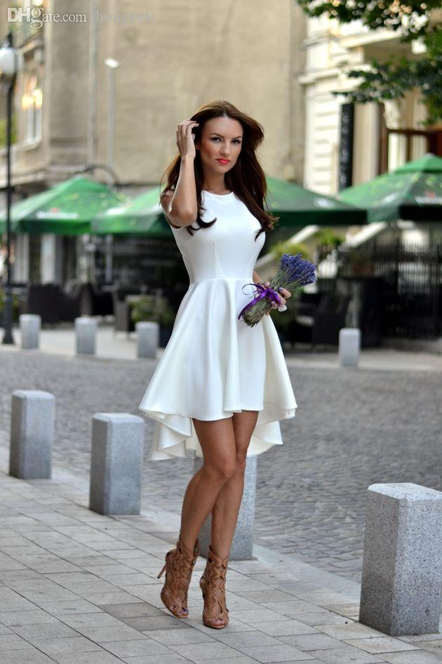 도매 - 여름 드레스 2016 신년 패션 여성 드레스 여성을위한 옷을 민소매 오목 드레스 가을 여성 의류