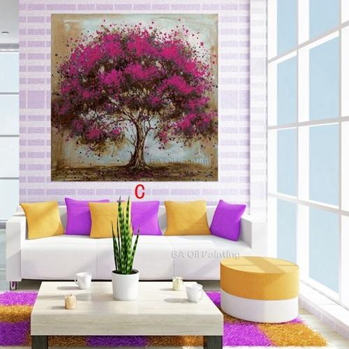Hand-Made-Oil-Painting-On-Canvas-Tree-Red-Flower-Oil-Painting-Abstract-Modern-Canvas-Wall-Art (2)