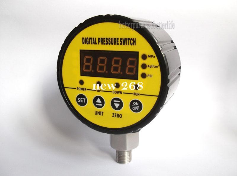 Frete Grátis 0-16bar (232psi) 12 V NPT1 / 4 Pressostato Digital para Compressor de Ar Da Bomba de Água