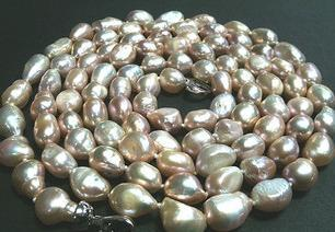 9-10 мм Барокко Special - Shaped Natural Pearl Necklace 120см Ожерелья из бисера HFY-1233