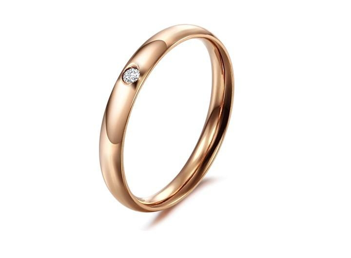 Free shipping South Korea edition of the new jewelry Exquisite crystal diamond smooth titanium steel rings for women