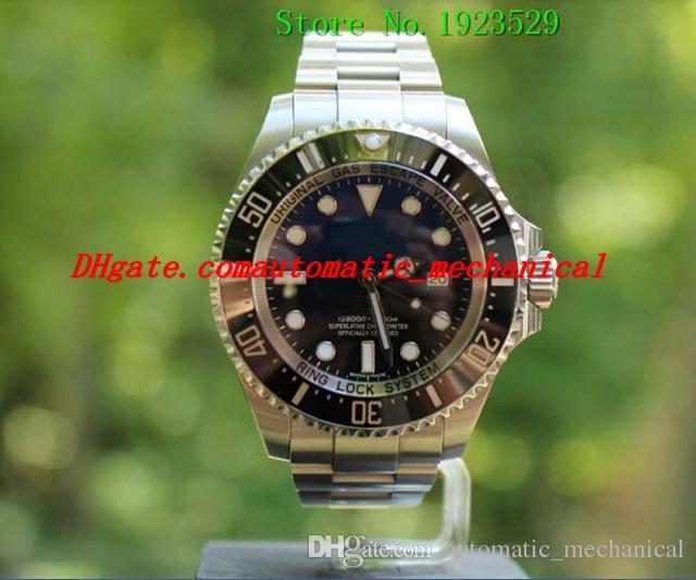 Certificat de montre-bracelet 116660 Montre bleue automatique en céramique de montre-bracelet en acier inoxydable de montre-bracelet de sport de boîte originale