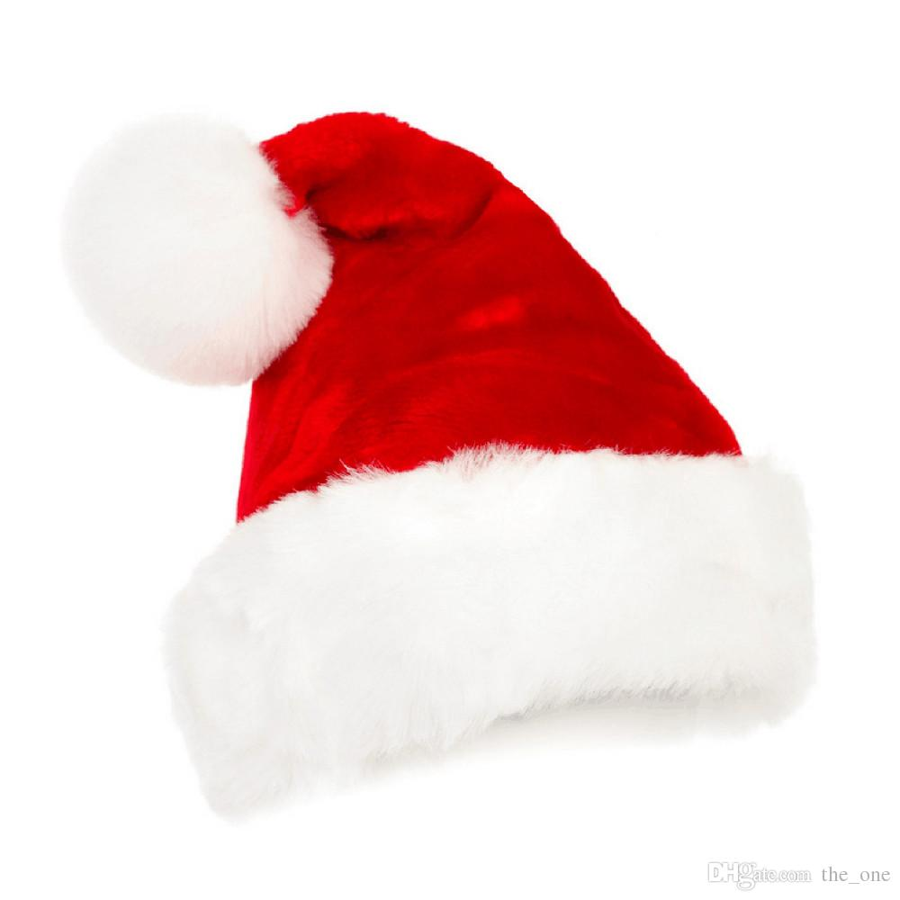 Christmas Hats.2019 New Years Christmas Party Santa Hats Red And White Cap Christmas Hat For Santa Claus Costume Xmas Decoration For Adult Kids From The One 1 69