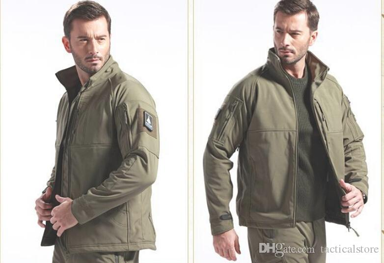 Waterproof Winter Mens Outdoor Jacket Tactical Coat Soft Shell Military Jacket