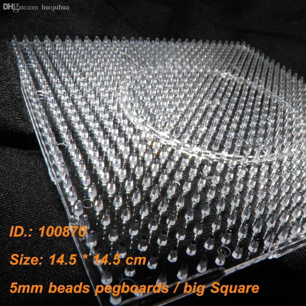 Al por mayor-2016 Nueva llegada Papelaria 100870 Pegboards para 5 mm Perler Beads Hama fundido ~ Claro vinculable Large Peg Board + envío gratuito