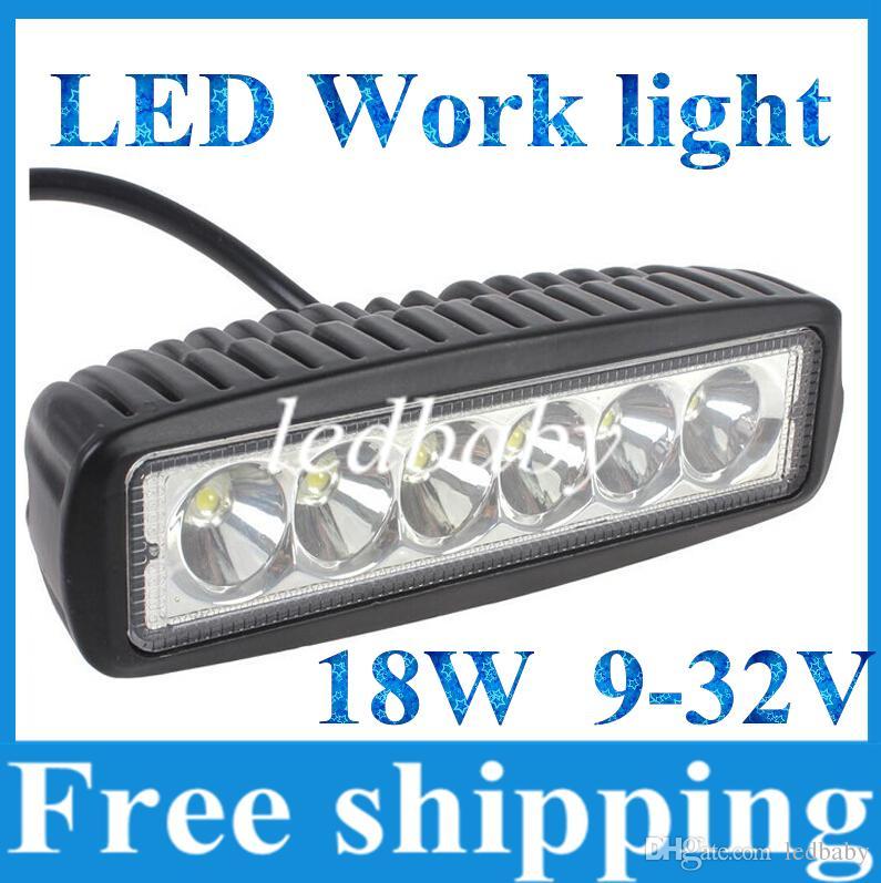 18 W CREE LED İş Işık Bar JEEP Nokta Taşkın Işın Sis Lambası 12 V 24 V 6LED * (3 W) 1600lm IP67 OffRoad Motosiklet Kamyon Sürüş