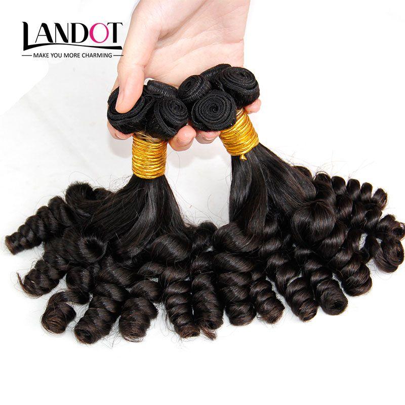 Grade 8A Non Transformés Mongol Tante Funmi Bouclés Vierge de Cheveux Humains Weaves Bundles Romance Sprial Bouncy Egg Curls Couleur Naturelle Peut Bleach