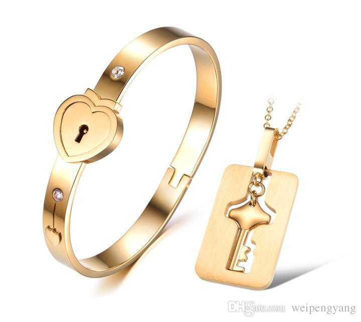 18k rose gold plated Titanium steel bracelet Refill love peach heart bracelet