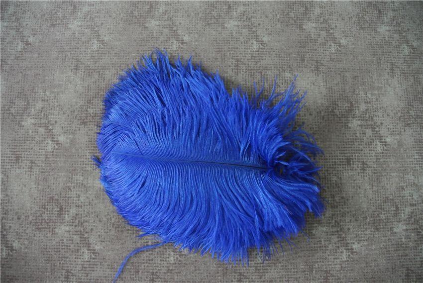100 pz 5-8 pollici royal blue piuma di struzzo plume per centrotavola di nozze decor centrotavola di festa decorazione evento matrimoni fornitura